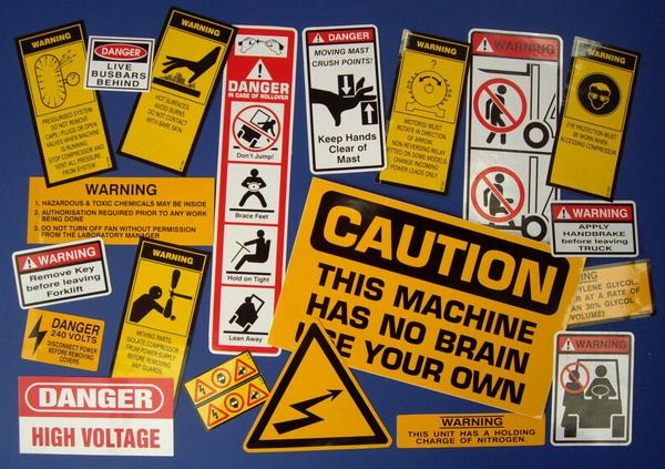 Safety Sticker Decals Squared Off Designs